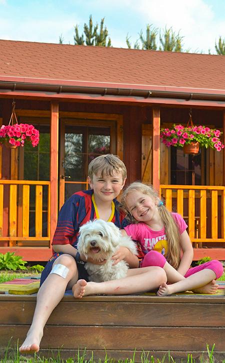 domki Forest dzieci